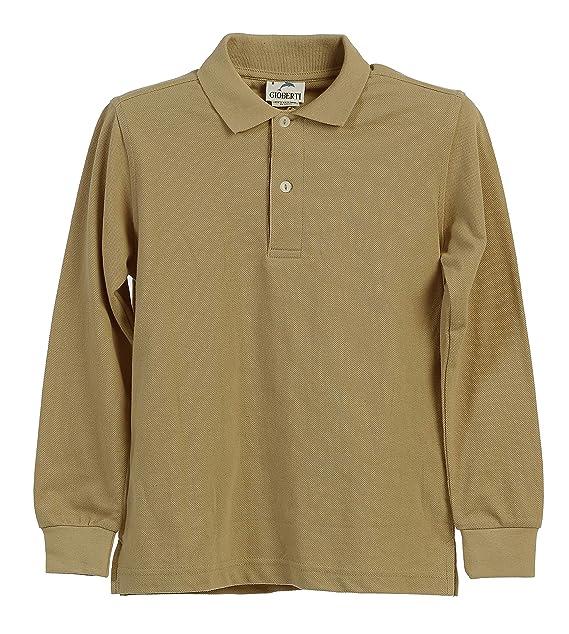 B-One Grandes Niños Niñas uniforme escolar caqui de manga larga ...