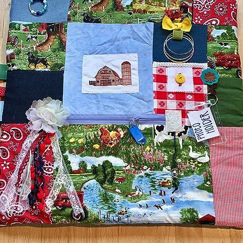 Amazon com: Fidget Blanket for Dementia   Fidget Quilt   Alzheimer's