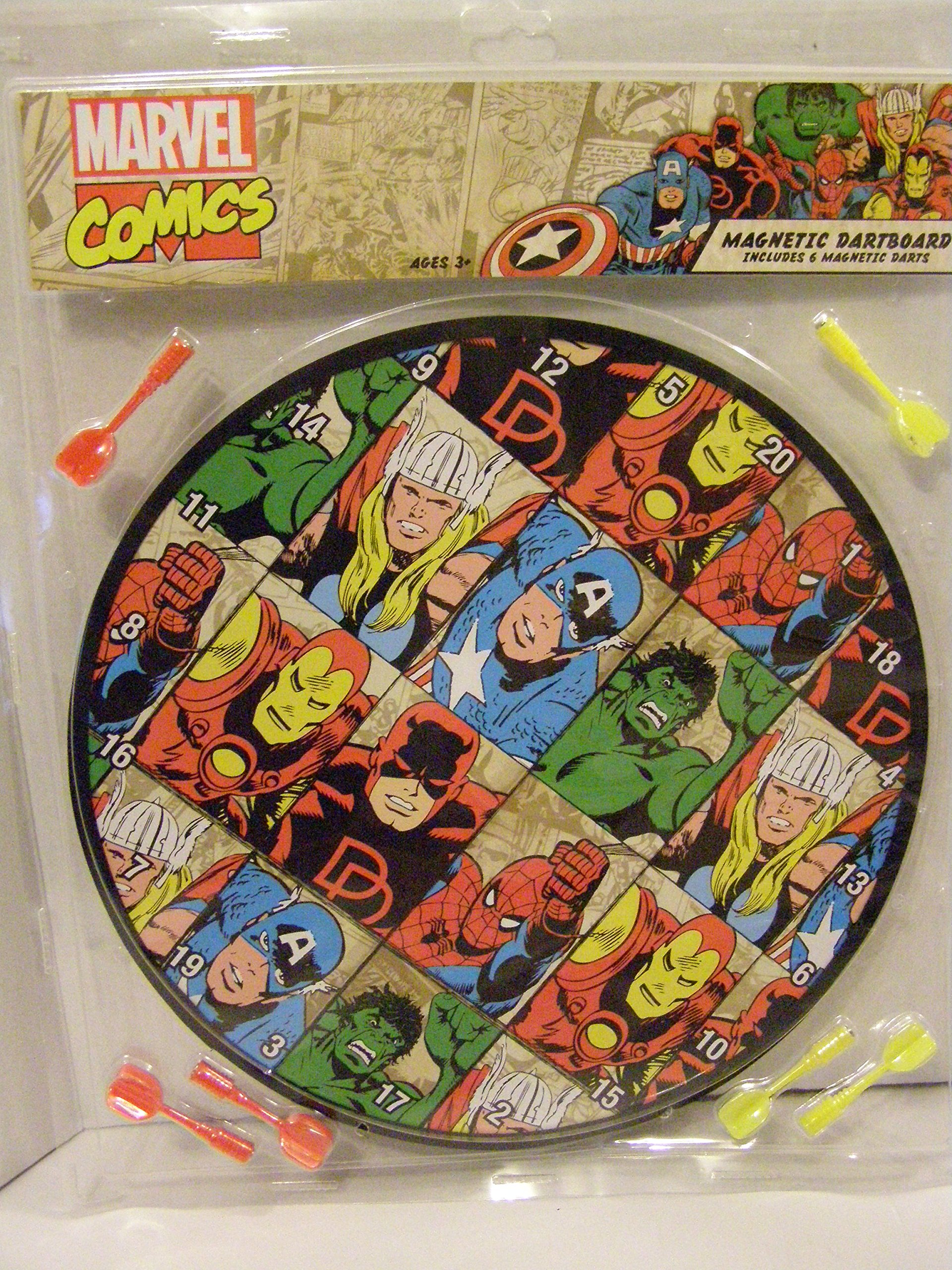 MARVEL COMIC SUPERHEROES REVERSIBLE MAGNETIC DARTBOARD