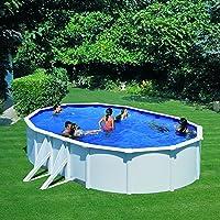Gre KITPROV503- Piscina Bora Bora Desmontable Ovalada de Acero Color Blanco 500x300x120 cm con Filtro de Cartucho