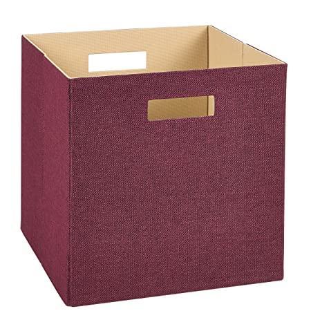 ClosetMaid 7112 Decorative Fabric Storage Bin, Cabernet