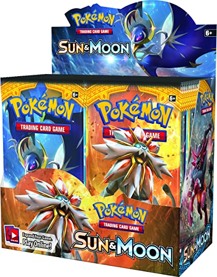 amazon com pokemon tcg sun moon sealed booster box toys games