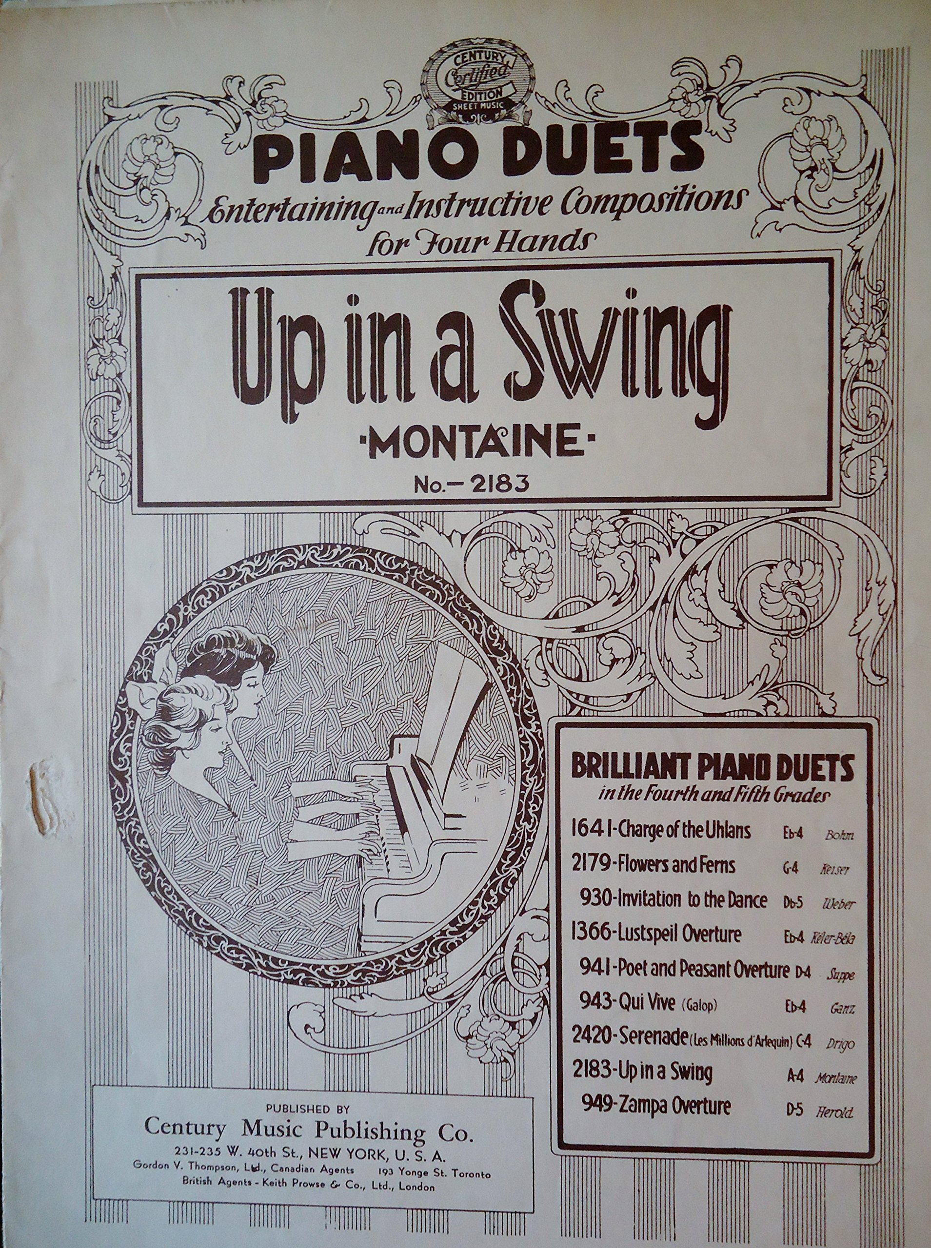 Up In a Swing (Piano Duets No  2183) Century Certified