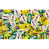 On The Go Mayo, Ketchup, Mustard, Mayonnaise, and Relish 200 Packets Bundle.(BAM Tote Bag included)