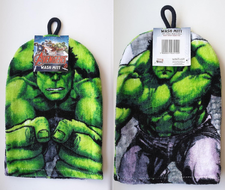 Avengers The Hulk - Wash Mitt Flannel Marvel Poplar linens