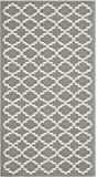 """Safavieh Courtyard Collection CY6919-246 Anthracite and Beige Indoor/ Outdoor Area Rug (2' x 3'7"""")"""