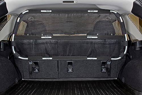 Bushwhacker – Cargo Area Dog Barrier for CUV Mid-Sized SUV 46 Wide Hatchback Pet Divider Crossover Vehicle Car Net Mesh Travel Back Seat Barricade Partition Gate Restraint Fence Trunk