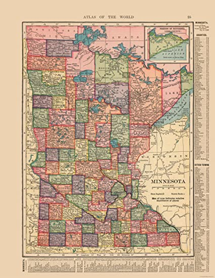 Amazon.com: MAPS OF THE PAST Old State Map - Minnesota ...