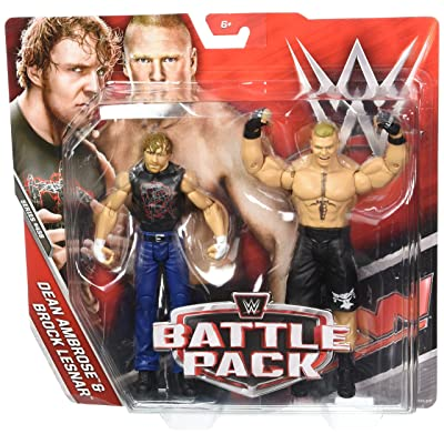 WWE Dean Ambrose & Brock Lesnar Action Seried 43 B Figures, 2 Pack: Toys & Games