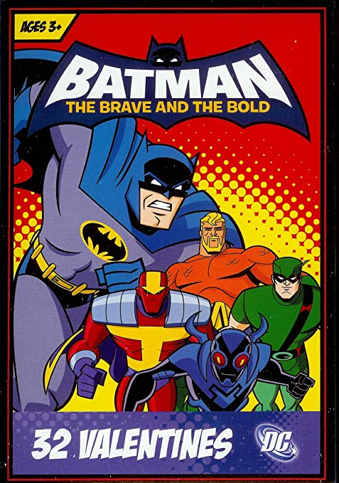 Amazon.com: Batman The Brave And The Bold Valentine Cards For Kids: Health  U0026 Personal Care