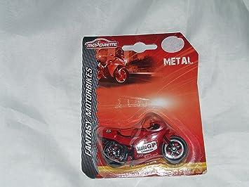 MAJORETTE METAL FANTASY MOTORBIKE RED MOTO GP TOY BIKE