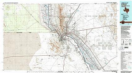 Amazon.com : YellowMaps El Paso TX topo map, 1:100000 Scale, 30 X 60 ...