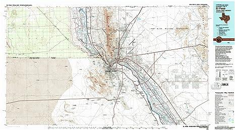 Amazon.com : El Paso TX topo map, 1:100000 scale, 30 X 60 Minute ...