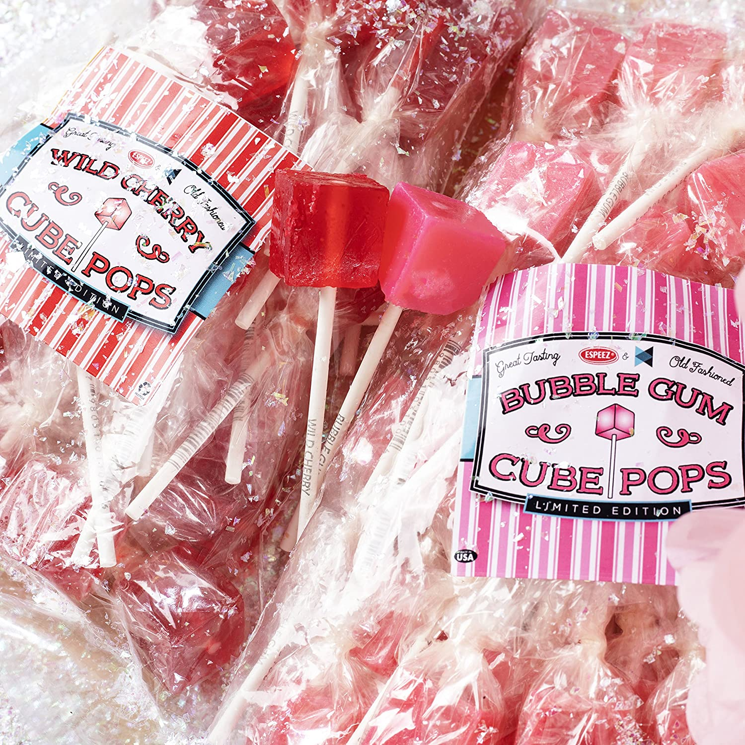 Amazon.com : Hard Candy Cube Lollipop Suckers: Individually Wrapped ...