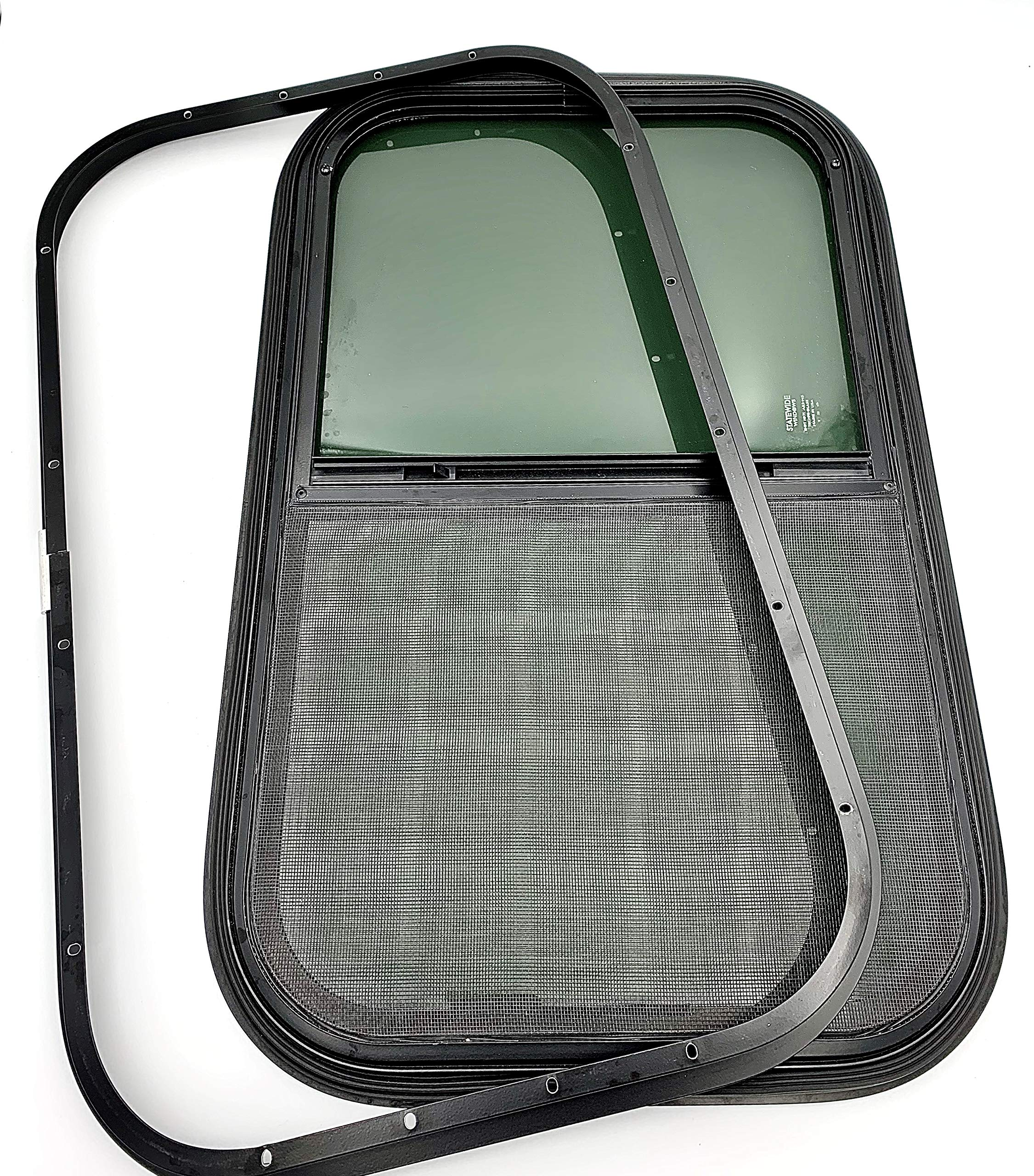 Vintage Technologies RV Teardrop Cargo 1 21 Wide x 14 Tall for 1-1//2 Wall Thickness Horse Trailer Camper Window