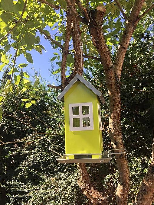 Pajarera para colgar, alcahaz de metal, comedero para pájaros ideal para balcón y jardín: Amazon.es: Productos para mascotas