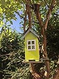 Vogelhaus zum aufhängen - Vogelhäuschen aus Metall | Futterstation für Vögel ideal für Balkon und Garten