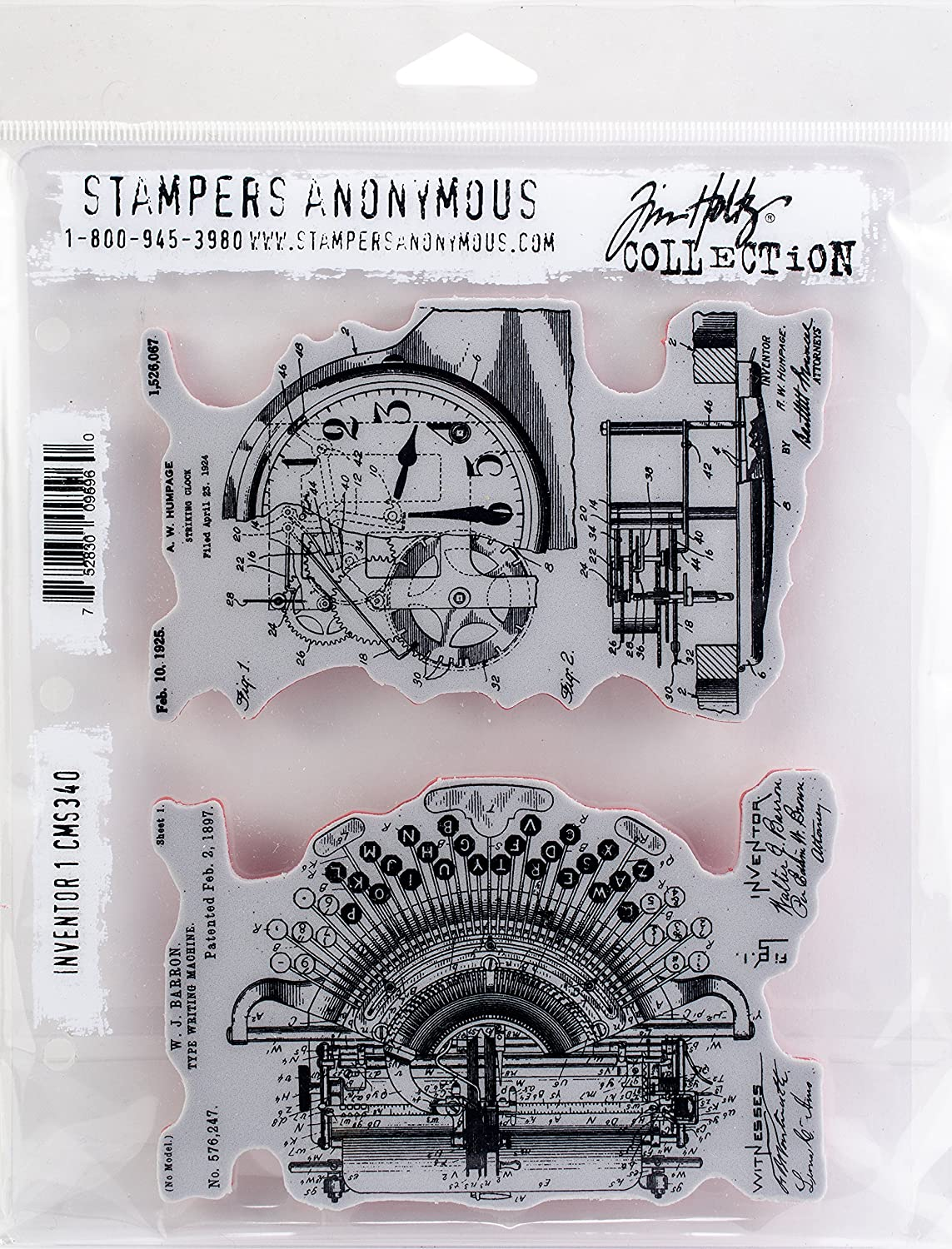 Tim Holtz Cling Stamps 7X8.5-Inventor 1 Stampers Anonymous CMS-340
