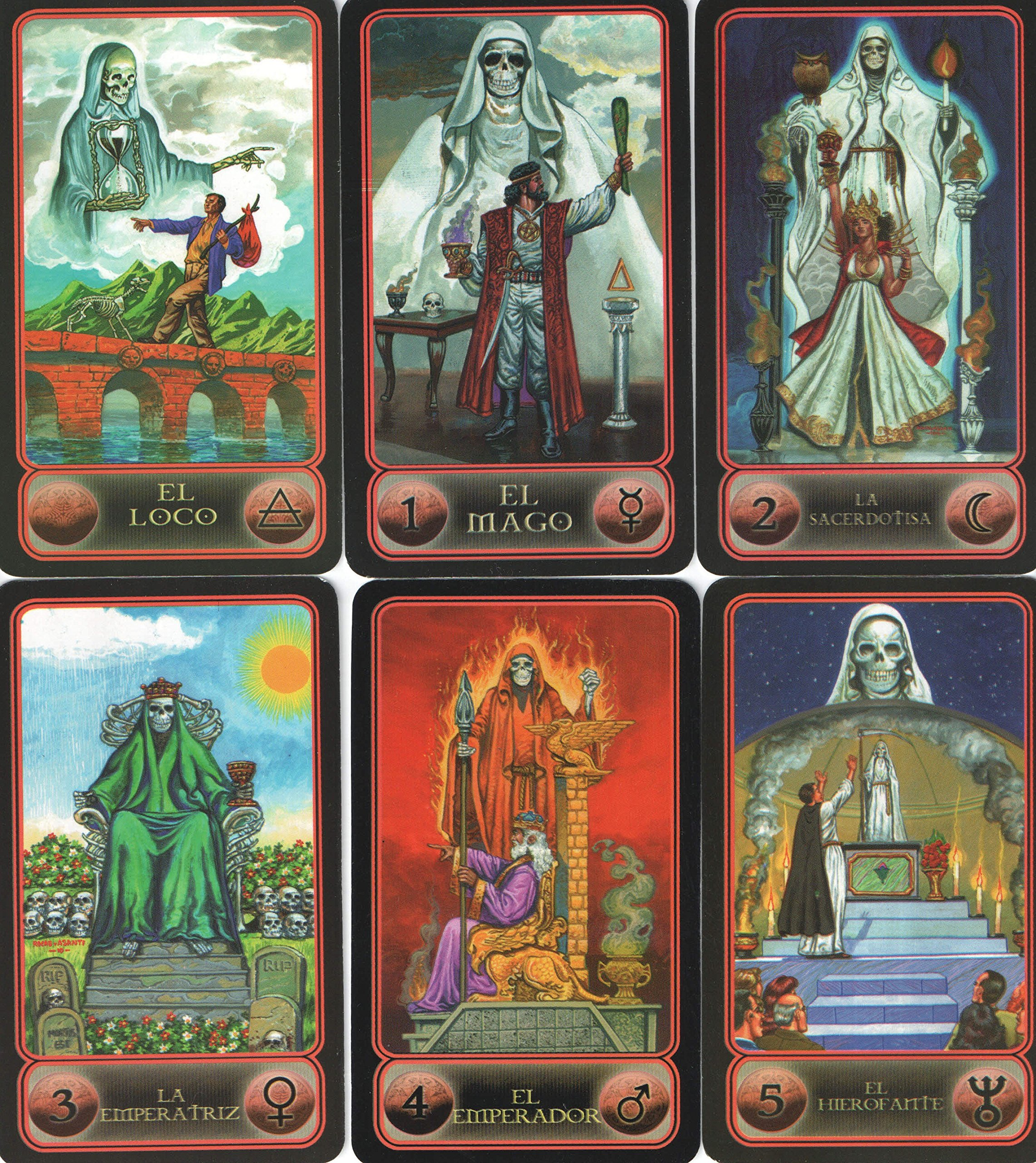 Amazon.com: Tarot de la Santa Muerte (Spanish Edition ...