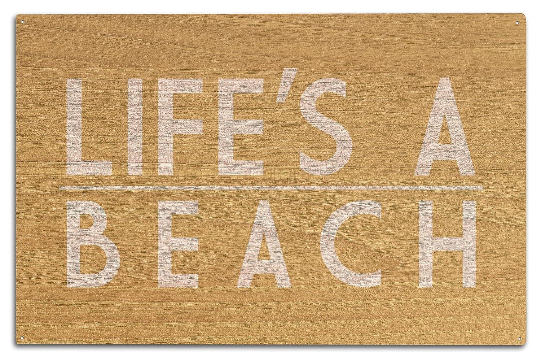 Life 's A Beach 10 x 15 Wood Sign LANT-76143-10x15W 10 x 15 Wood Sign  B073653TNN