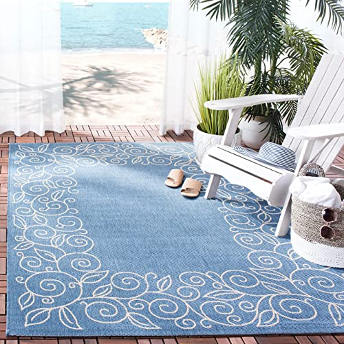 Safavieh Courtyard Collection CY5139C Blue and Beige Indoor Outdoor Area Rug 9 x 12