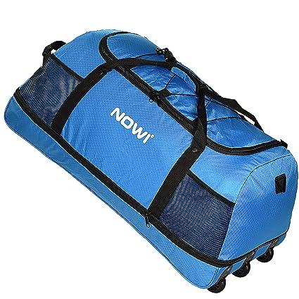 Nowi XXL Bolsa de viaje con 3 ruedas Volumen 100-135 L 81 cm blau