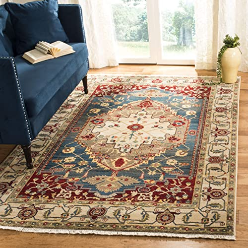 Safavieh Kashan Collection KSN306A Traditional Oriental Non-Shedding Stain Resistant Living Room Bedroom Area Rug