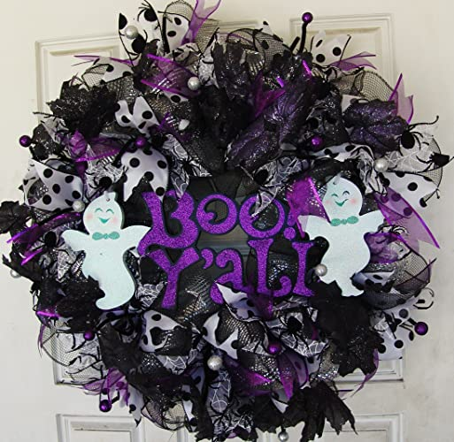 BOO Y'ALL Halloween Wreath