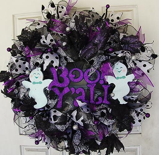 BOO Y'ALL Halloween Wreath