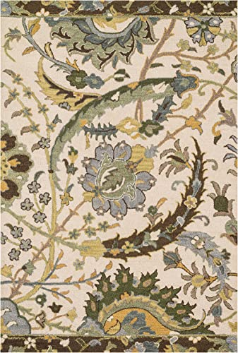 Loloi MAYFIELD Area Rug, 9 -3 X 13 , Ivory Green