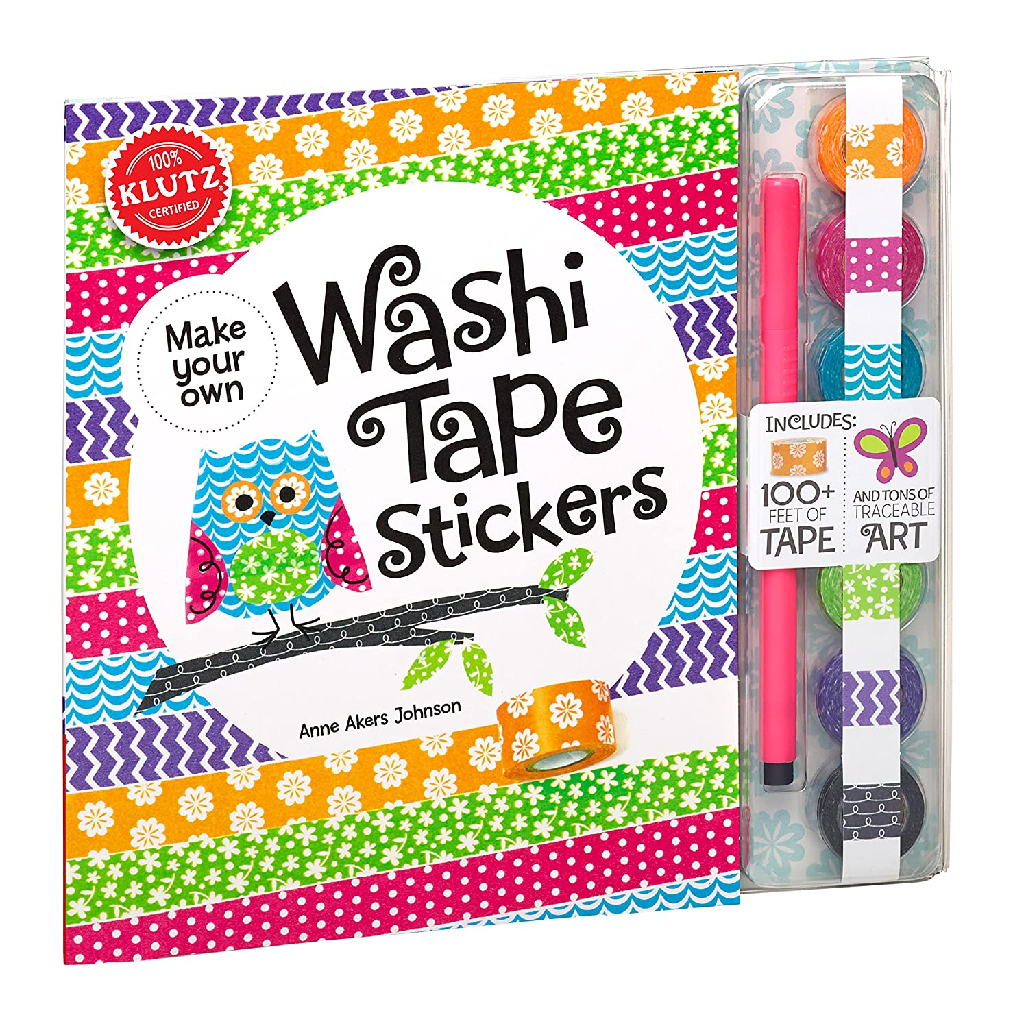 Amazon com klutz make your own washi tape stickers shape this tape into crazy cute stickers craft kit anne akers johnson toys games