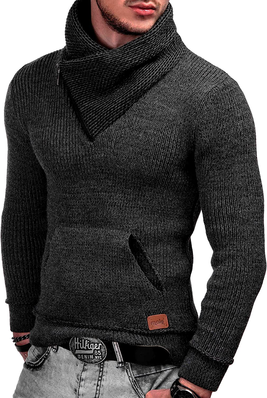 Caldo Moderno Marchio Hoddie Maglione Comodo in per Uomo Raven L Indicode Uomo Dane Pullover Invernale A Maglia Grezza con Colletto Sciallato