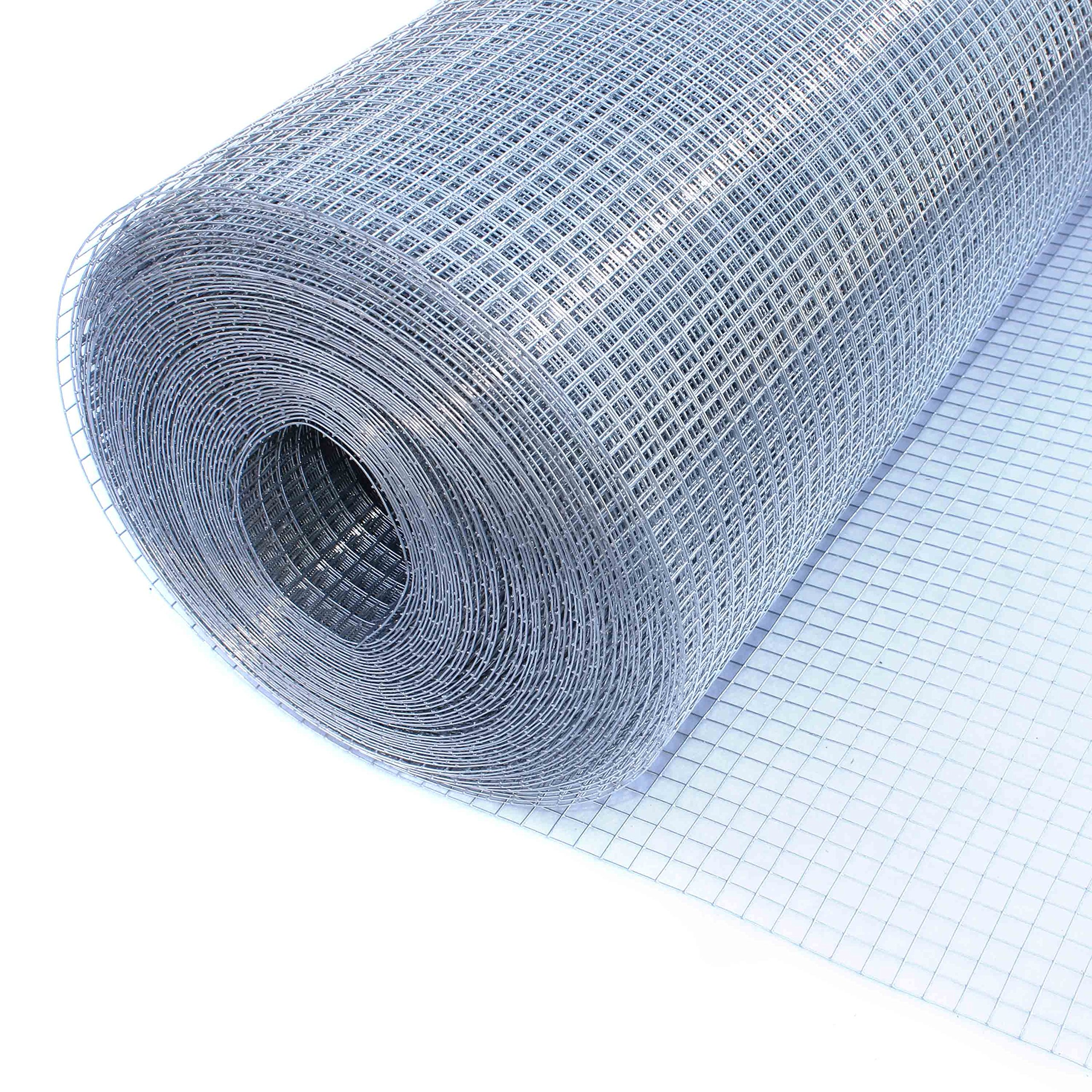 ALEKO WM48X100M1/2G19 Mesh Wire Roll Cloth, 19 Gauge Steel For Garden Fencing, Poultry Enclosures, Insulation Retainers, Storage Bins, Decorative Supports