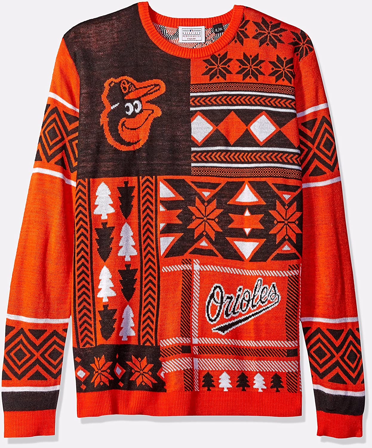 Amazon.com : FOCO MLB Patches Ugly Sweater - Pick Team : Sports ...
