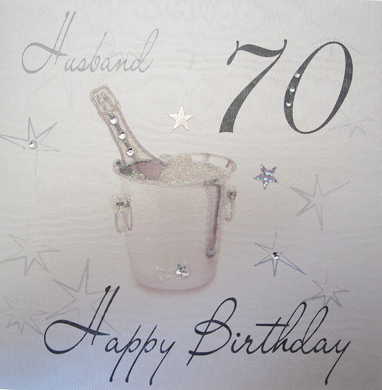 New husband birthday card images laughterisaleap husband 70th birthday card greeting card for age 70 amazon bookmarktalkfo Images