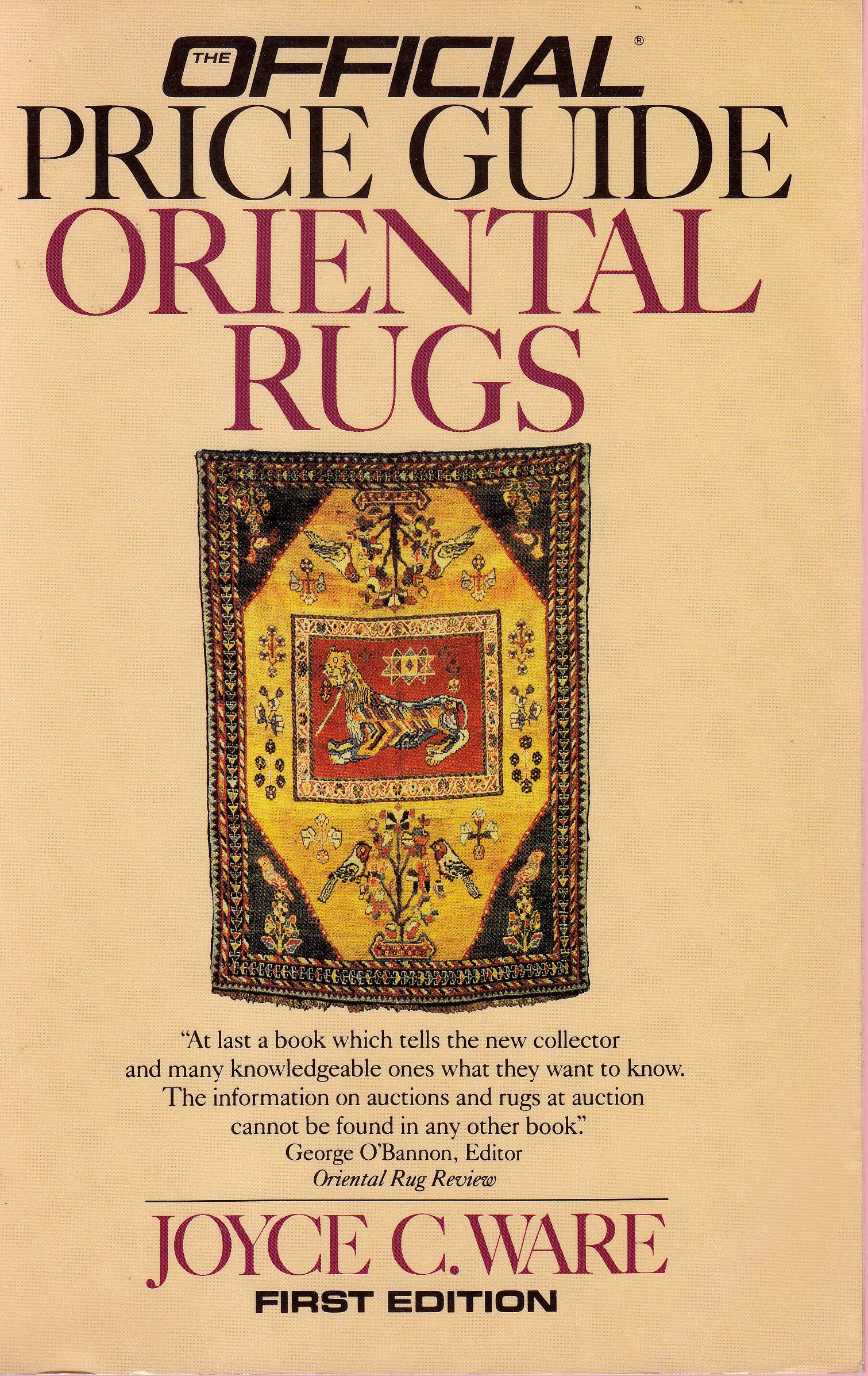 Official Price Guide Oriental Rugs: 1st Ed.