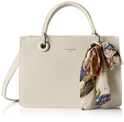 a463b46b5c Buy David Jones Women's Cm3743 Top-Handle Bag Grey - L Cm3743 Online at Low  Prices in India - Amazon.in
