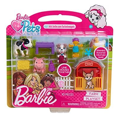 Barbie Pets Play Farm Set, Multicolor: Toys & Games