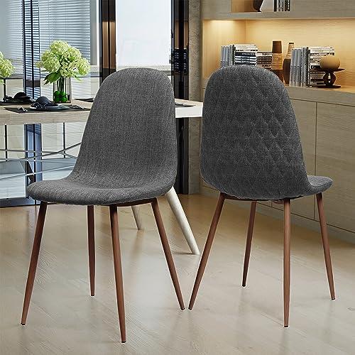 Camden Mid Century Light Grey Fabric Dining Chair