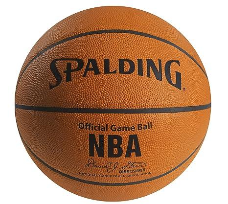 Spalding NBA - Balón de Baloncesto de Piel 30 Aniversario, 29.5 ...