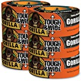 """Gorilla Black Tough & Wide Duct Tape, 2.88"""" x 30 yd, Black, (Pack of 6)"""