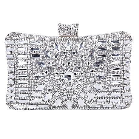 Pochette Elegante Pochette da Cerimonia Donna Diamante Borsetta da Sera  Borsetta da Matrimonio con Catena per fe58f622d7f