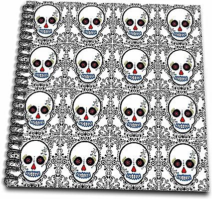 Amazon.com: 3dRose Db_28882_2 Day Of The Dead Skull Dia De Los Muertos Sugar  Skull Print White-Memory Book, 12 By 12-Inch: Arts, Crafts & Sewing
