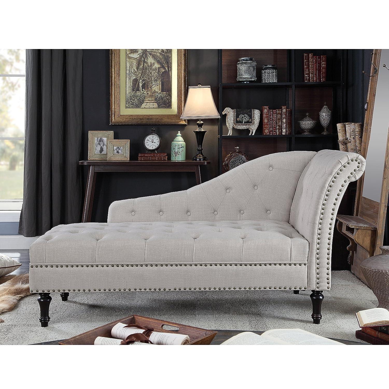 Rosevera Deedee Chaise Lounge, Beige