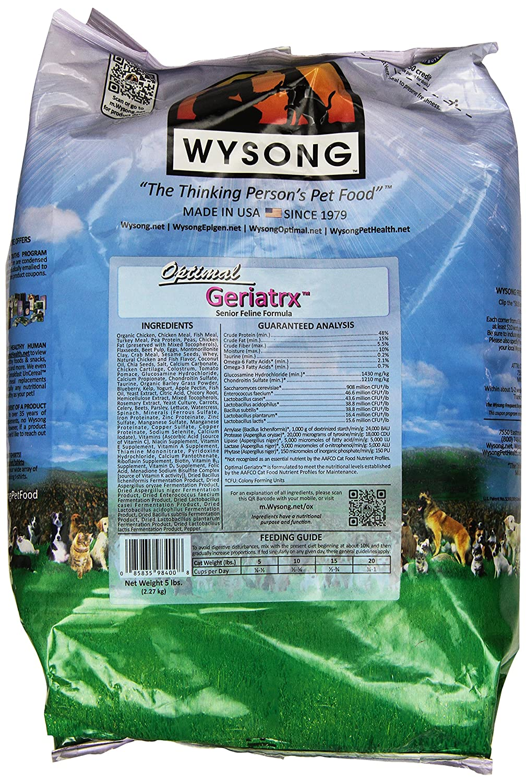 Good Wysong Optimal Geriatrx Senior Feline Formula Cat Food 5 Pound