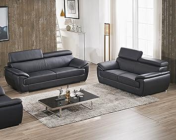 Juego de sofás de diseño completo de piel de muebles ...