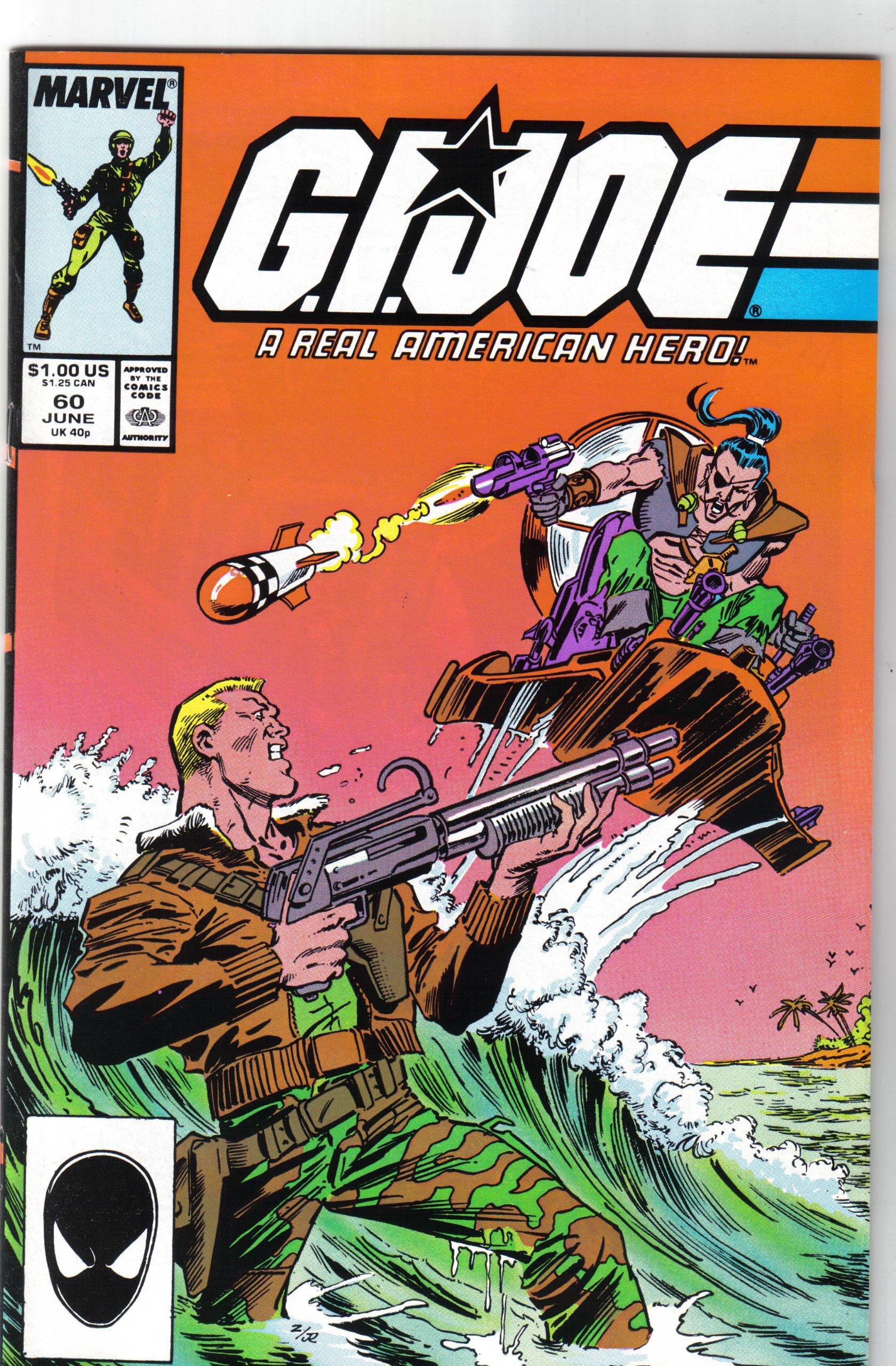 1ST CHUCKLES 1987 MARVEL TODD McFARLANE ART G.I JOE A REAL AMERICAN HERO #60