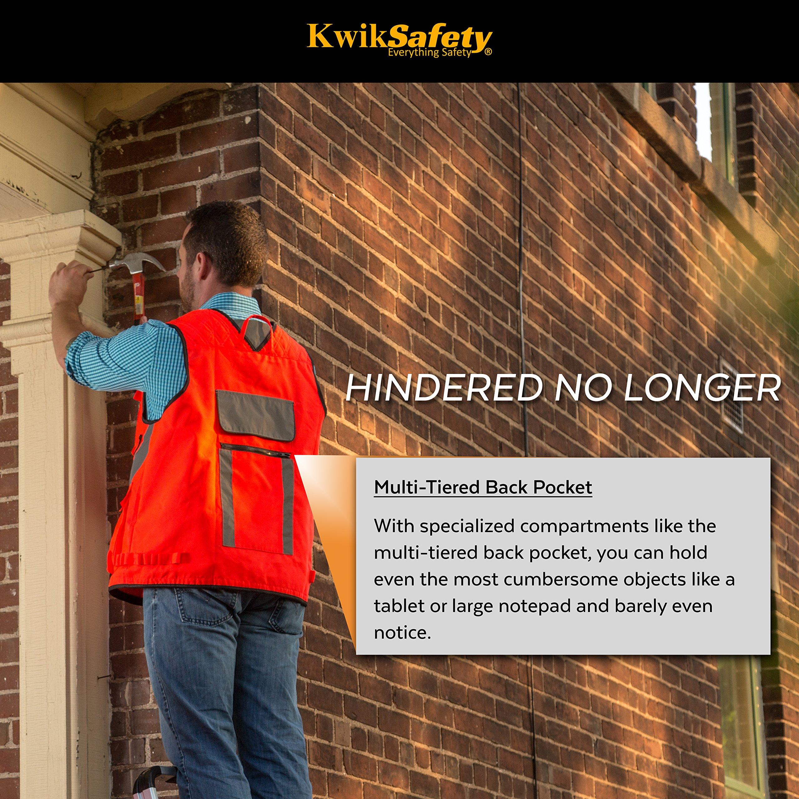 KwikSafety (Charlotte, NC) ARTISAN Tool Vest | Reflective Multi Pocket Lightweight Work Wear | Hi Vis Volunteer Emergency Crew Surveyor Carpenter Electrician Engineer | Men Women Regular | 4XL/5XL by KwikSafety (Image #5)