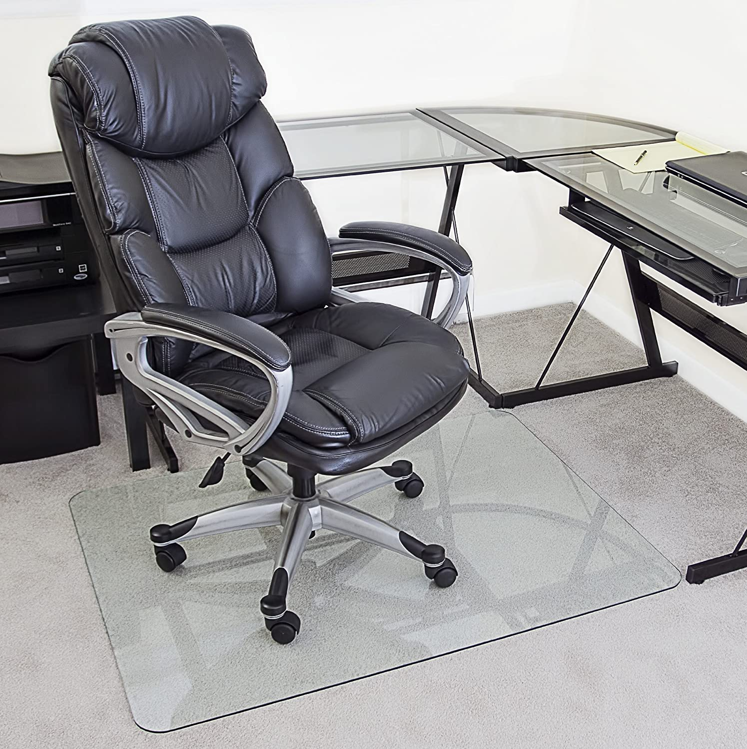 Amazon myGlassMat 36 X 48 Inch Tempered Glass Chair Mat for