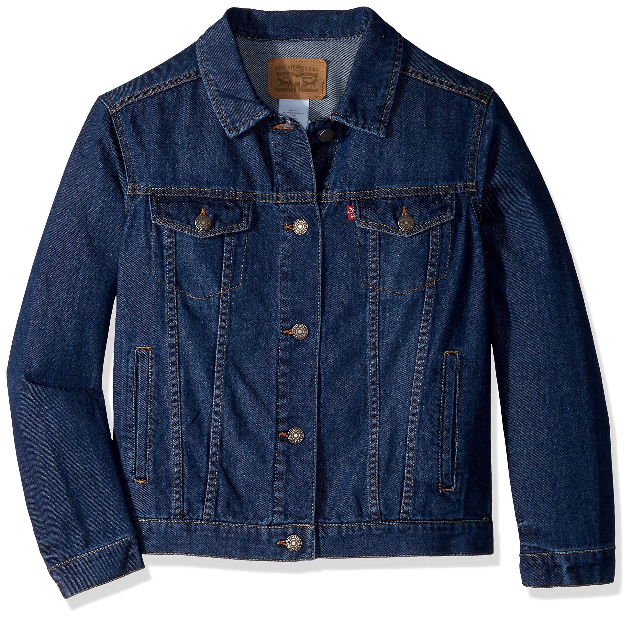 Levi's Girls' Little Denim Trucker Jacket, Siren, 6X by Levi's